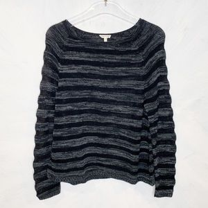 Eileen Fisher Bateau Cotton Striped Sweater